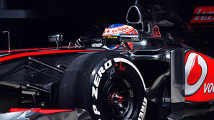 Jenson Button takes his car for a spin