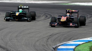 Lotus catch Toro Rosso during the German GP