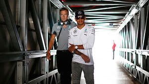 Hamilton late to start first practice session, yet fastest at the finish