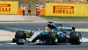 Hamilton sets the fastest lap of the Spanish Grand Prix