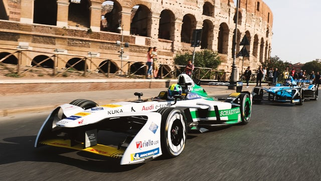 Rome E-Prix launch demonstration