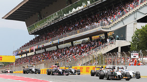 Packed grandstands at Barcelona on race day