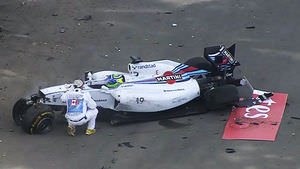 Not the way Massa wanted to end his race