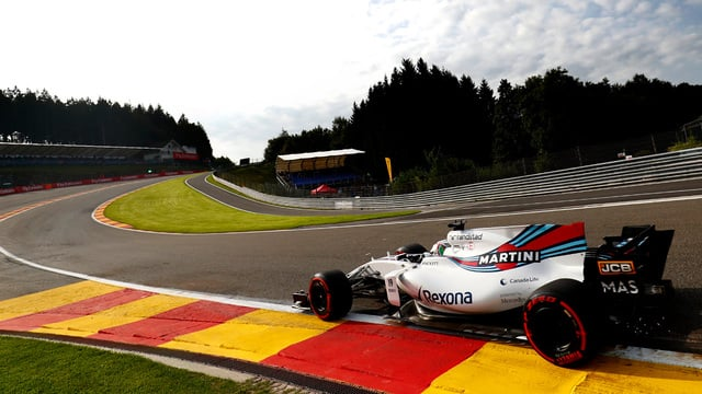 Felipe Massa crashes out of practice in Spa on F1 return