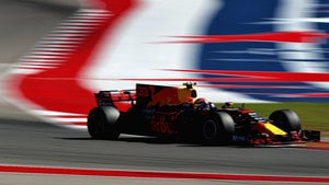 Max Verstappen lights up the Austin track