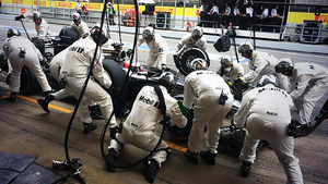 Button makes a pitstop