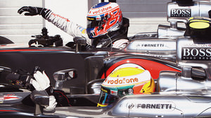 Button and Hamilton in Hungary