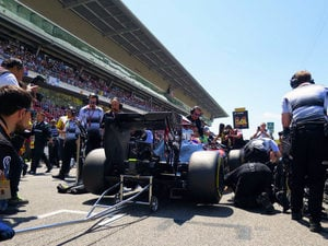 McLaren on the grid