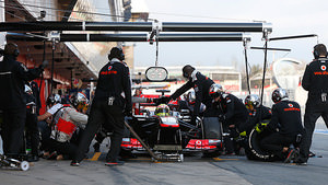 McLaren runs through pitstop simulations