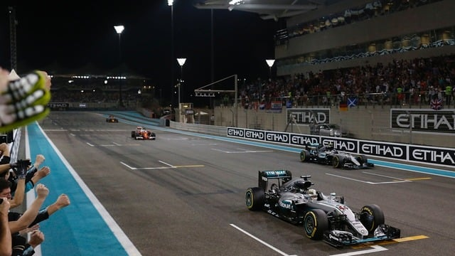 Hamilton wins in Abu Dhabi but Rosberg takes the crown