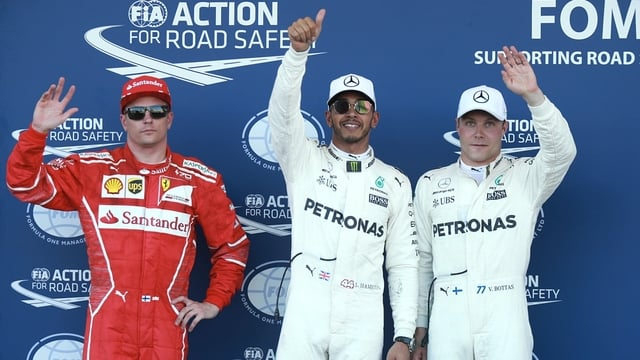 Hamilton grabs pole in Azerbaijan as Ricciardo crashes