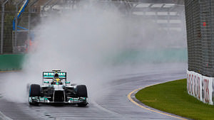 Mercedes shine in overcast conditions