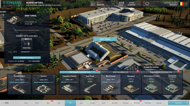 An early preview of the Motorsport Manager game