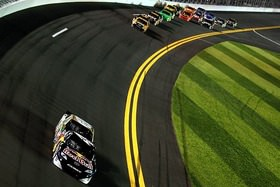 NASCAR's blue riband race, the 500 mile race at Daytona Beach, Florida gets underway this evening. 200 laps of nose-to-tail racing and as the biggest names American motor sport run nose to tail at almost 200mph.