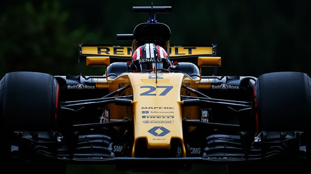 Hülkenberg eked out a gap to score best of the rest in sixth