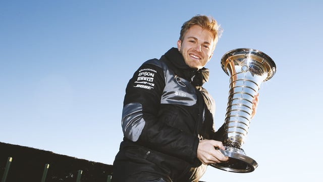 Rosberg and his trophy