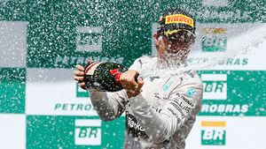 Rosberg celebrates a hard fought win