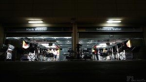 Red Bull prepare for the Bahrain Grand Prix