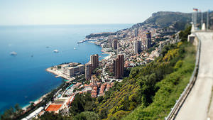Monaco and the Mediterranean Sea