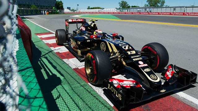 A strong drive from Maldonado as his machinery finally allowed him to show his pace