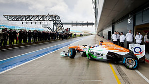 Paul di Resta takes the Force India out for a spin