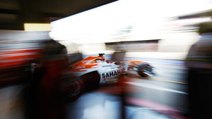Di Resta exits his garage