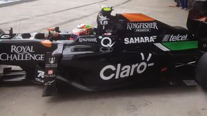 Checo heads out for his second run of Q1