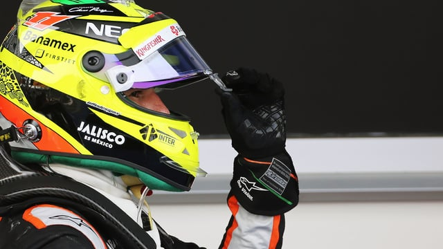 This was perhaps Sergio's best ever drive, securing his seventh podium