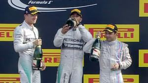 Podium celebration in Spa