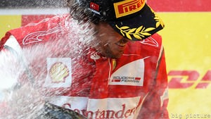Fernando Alonso picks up Ferrari's first podium of 2011 in Turkey