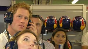 Prince Harry watches on