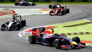 Racing action during the Italian GP
