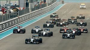 Race start in Abu Dhabi