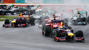 Vettel leads the field in Malaysia
