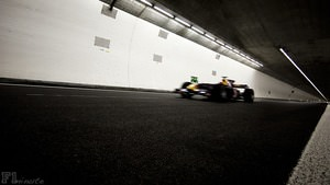 Red Bull demonstrate car at Tunnel Crossing in Zurich