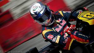 Sébastien Buemi performs during the Red Bull Kart Fight in Mollis, Switzerland