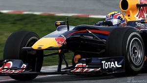 Mark Webber leads first day of testing in Barcelona