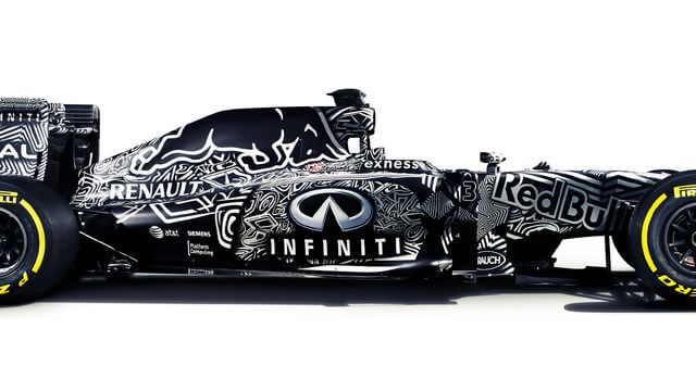 Side view of the livery masking RB11 updates
