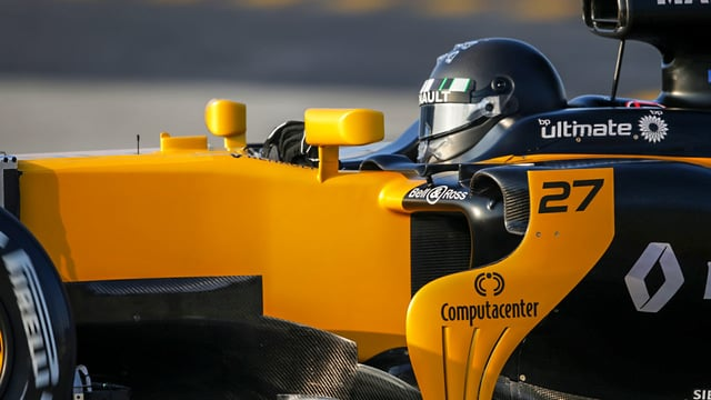 Nico Hülkenberg gets his first taste of the new Renault