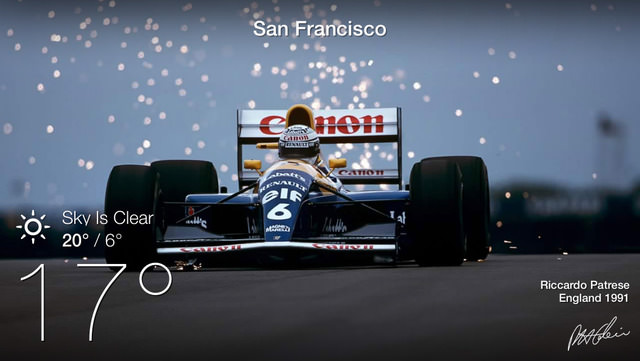 Riccardo Patrese photograph, as featured on the Racing Elements app