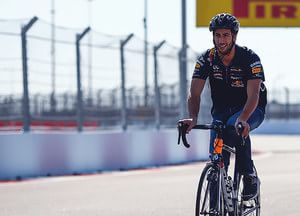 Ricciardo on two wheels
