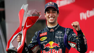 Race winner Ricciardo has something to smile about