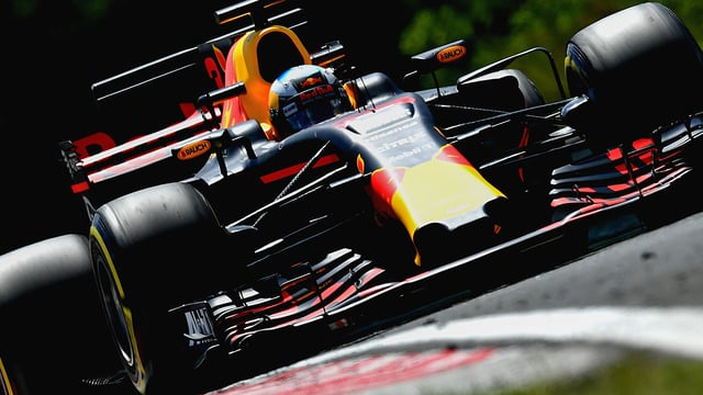 Daniel Ricciardo leads Friday practice at the Hungaroring