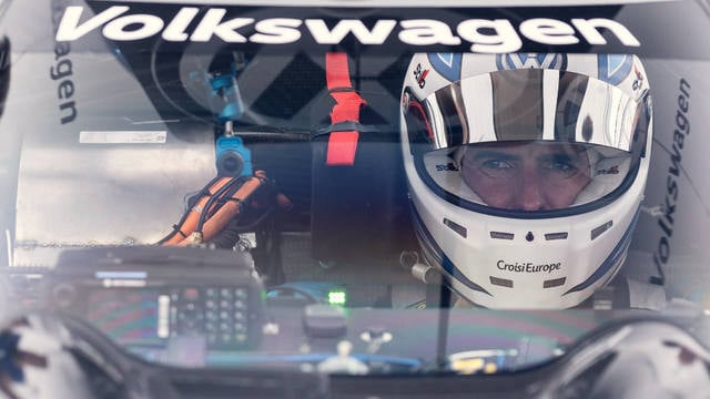Romain Dumas at the wheel of the Volkswagen ID.R