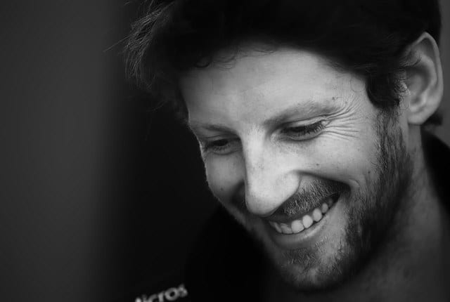 Grosjean could make hay, climbing back up to seventh
