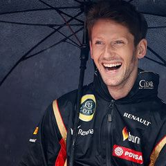 Another driver who could be relied upon for a happy grin, Romain Grosjean