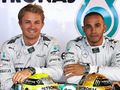 Nico Rosberg and Lewis Hamilton duelled for pole position