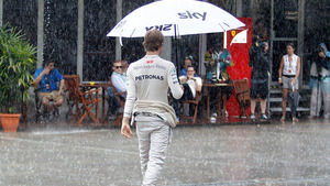 Nico Rosberg takes third as it's wet tyres all round in Sepang