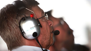 Ross Brawn on the pitwall