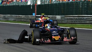 Sainz has tyre trouble in Belgium